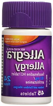 Allegra Allergy 180mg 24 Hr Relief Tablets, 45 Count