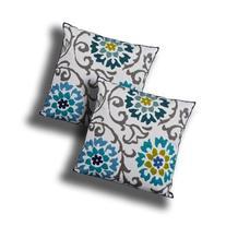 Utopia Alley Charlene Embroidered Decorative Pillow, Aqua /