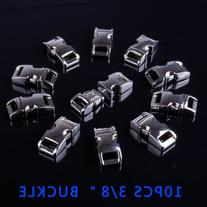 "10 PCS 3/8"" Alloy Curved Side Release Buckles For Paracord"