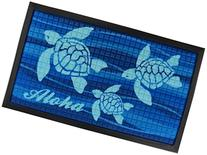 "KC Hawaii Aloha Honu Tropical Door Mat 30"" X 17.75"