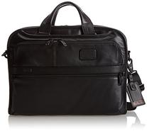 Tumi Alpha 2 Organizer Portfolio Leather Brief, Black, One