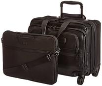 TUMI - Alpha 2 Carry-on Wheeled Leather Laptop Deluxe Brief