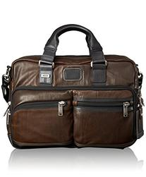 Tumi Alpha Bravo Andersen Leather Slim Commuter Brief, Dark