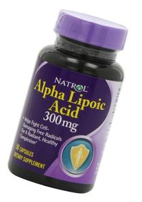 Natrol Alpha Lipoic Acid 300mg Capsules, 50-Count