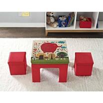 Altra Kids' Fabric Table and Ottoman Set, Multiple Colors