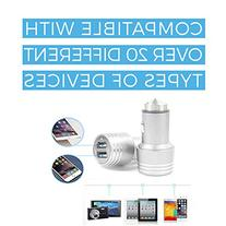 Premium Aluminum 4.0A Dual USB Car Charger for iPhone 6 /