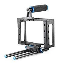 Neewer Aluminum DSLR Camera Cage Kit With 15mm Rod Rig For