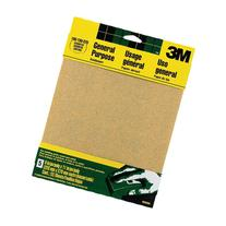 3M Aluminum Oxide Sandpaper, 9 in x 11 in, Assorted grit, 5/