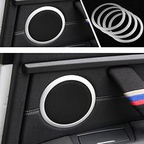 iJDMTOY  Aluminum Speaker Ring Cover Trims For 2012-up BMW