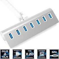 Sabrent Premium 7 Port Aluminum USB 3.0 Hub with 5V/4A Power