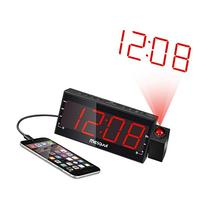 "Mesqool 7"" Projection Alarm Clock for Bedrooms, Ceiling,"
