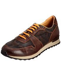 Robert Graham Men's Amazon 6 Fashion Sneaker, Dark Brown/