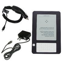 Amazon Kindle 2 Accessories Silicone Skin Case  w/ Car