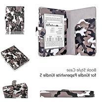 Amazon Kindle Paperwhite Case Camouflage Black&Gray - Slim