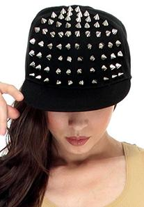 AMC Men / Women's Punk Rock Spiked Studded Baseball Hat,