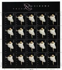 American Ballet Sheet of Twenty 32 Cent Stamps Scott 3237