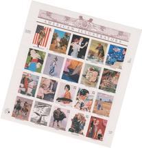 American Illustrators Collectible Sheet of Twenty 34 Cent