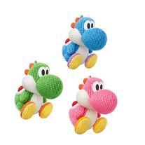 Amiibo Nintendo Yarn Yoshi Wooly World Green Pink Blue 3set