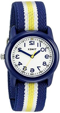 Timex Kids Analog - Blue & Yellow Striped Strap Minutes -