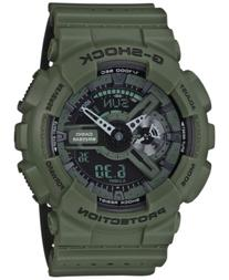 G-Shock Men's Analog-Digital Green/Black Dual Layer Resin