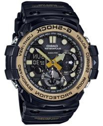 G-Shock Men's Analog-Digital Gulfmaster Vintage Gold Black
