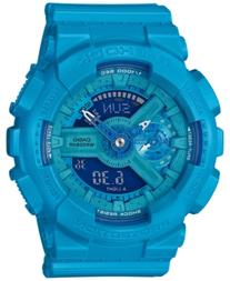 G-Shock Women's Analog-Digital S-Series Blue Resin Strap