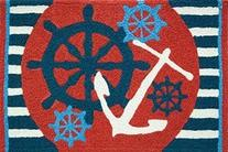 Jellybean Anchors Away Ships Wheel Nautical Sailing Area