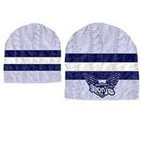 99% ANGEL CABLE KNIT WHITE BLUE SKULL HAT CAP BEANIE