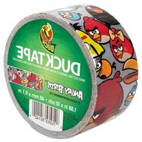 """Angry Birds DuckTape, 1.88"""" x 10 yds, 3"""" Core, Red/Silver"""