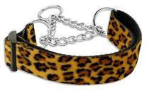 Animal Print Nylon Collars Martingale Large Leopard