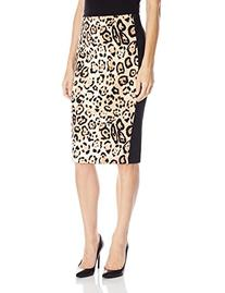 Women's Vince Camuto Animal Print Scuba Knit Pencil Skirt,