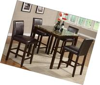 5PC ANISE COUNTER HEIGHT DINING SET