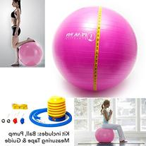 Anti-burst Exercise and Stability Ball with Pump, Training
