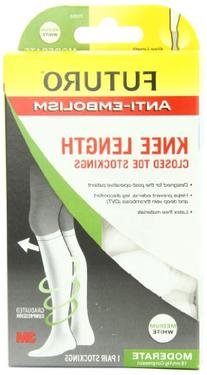Futuro Anti-Embolism Knee Length Stockings, Closed Toe,