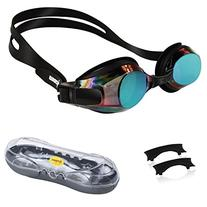 Ipow Anti-fog Mirrored Swim Swimming Goggles with Uv