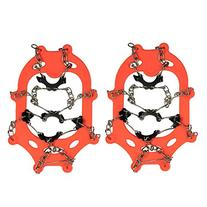 2x Ice Cleat Shoe Boot Tread Grips Traction Crampon Chain