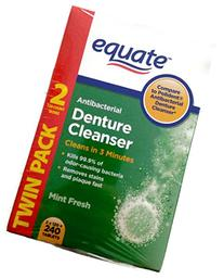 Equate Antibacterial Mint Fresh Denture Cleanser Tablets,