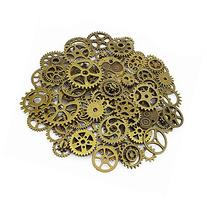 LolliBeads 120 Gram Antiqued Bronze Metal Skeleton Steampunk