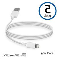 BoxWave Apple Certified MFI Lightning Cable 5-Pack - Made