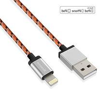Lightning to USB Cable, Nexcon Nylon Braided Charge and