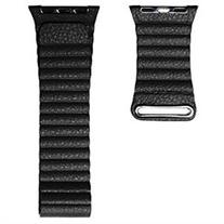 Apple Watch Strap Band High Quality MyMy Genuine Leather Loop Black - 42mm - Large
