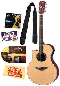 Yamaha APX500 Natural Acoustic-Electric Guitar Bundle with
