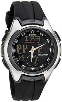 "Casio Men's AQ160W-1BV ""Ana-Digi"" Stainless Steel Watch with"