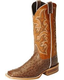 Justin Men's Aqha Full Quill Ostrich Cowboy Boot Square Toe