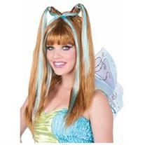 Womens Aqua Fairy Wig