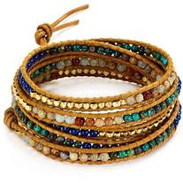 Chan Luu Aqua Terra Mix Beaded Wrap Bracelet