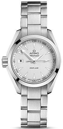 Omega Aqua Terra Silver Dial Stainless Steel Ladies Watch
