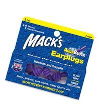 Mack's AquaBlock Earplugs - Purple