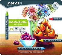 LYRA Aqua Color Water-Soluble Wax Crayons, Set of 24,