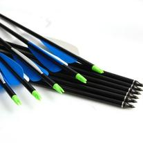 "Buffalo Archery 31"" 8.5mm Black Aluminum Arrows 450SP"